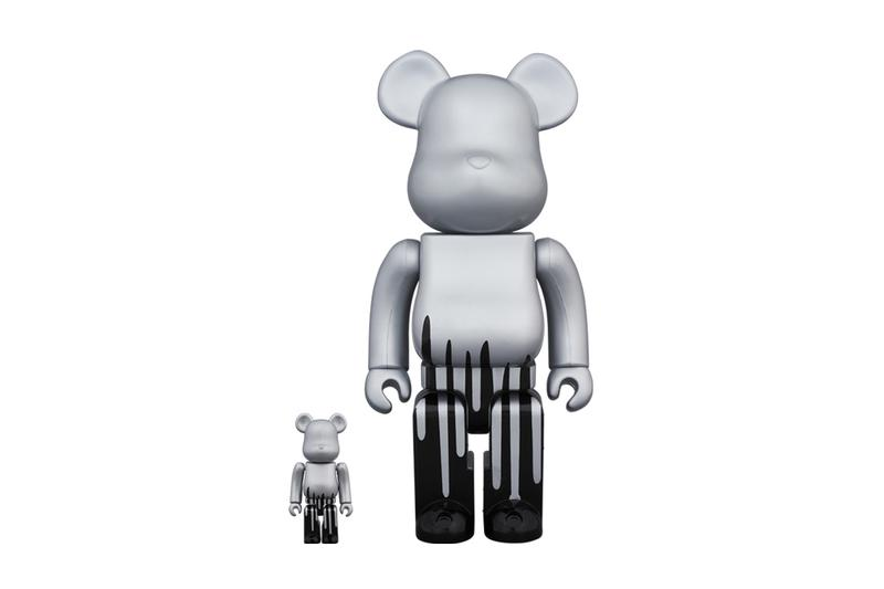 KRINK & Medicom Toy Release Paint-Dripping BE@RBRICK Figure