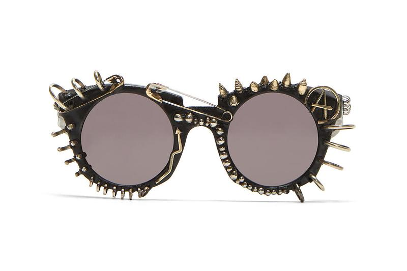 kuboraum mask u6 sunglasses in black spiked colorway release spring summer 2019 two tone mask h11 y5 in green sunglasses sid vicious sex pistols steampunk