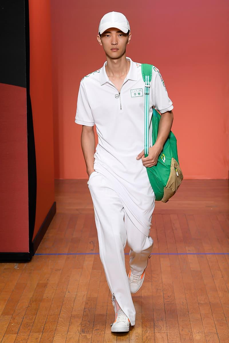 LI-NING Paris Fashion Week Men's SS20 Spring Summer 2020 Collection Menswear Runway Presentation Ping Pong Stefano Pilati Random Identities