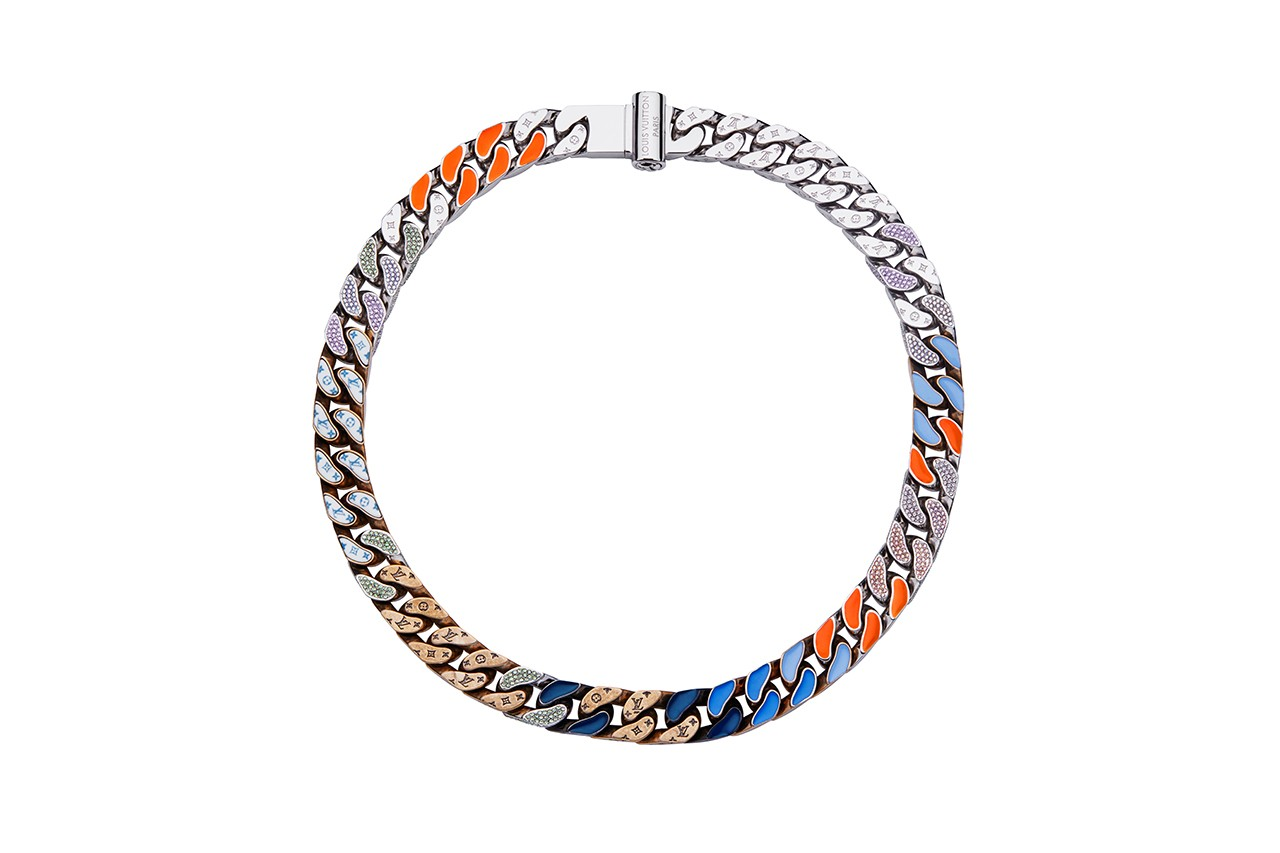 Louis Vuitton Jewelry Men's Artistic Director Virgil Abloh Design Spring Summer 2019 SS19 Necklaces Monogram Cuban Link Chain Bracelet