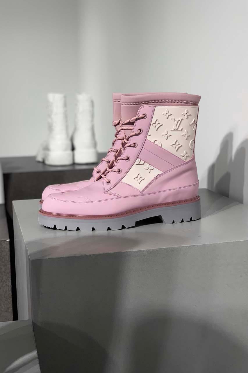 pink louis vuitton boots