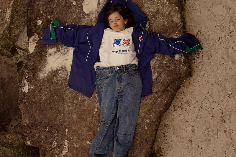 Maison kitsune ader error fall/winter 2019 collection release details information the blue box family hats cap tracksuit t-shirt shirt jacket pants slides