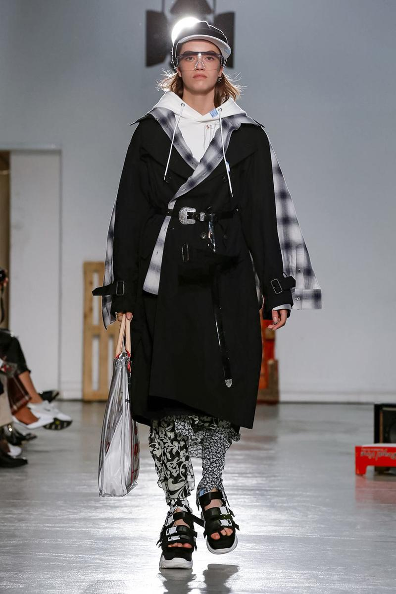 Maison Mihara Yasuhiro Spring Summer 2020 Collection Paris Fashion Week Melting sneakers deconstruction jackets runway fashion biker jacket flames plaid