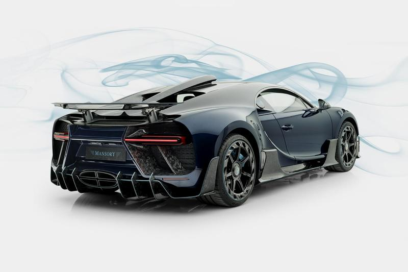 Mansory Bugatti Chiron Centuria Geneva Show 2019 £4000000 GBP Hypercar Full Carbon Fiber Aero Package Tuned Modified Official Release Information Unveiling Pictures