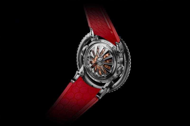 MB&F HM7 Aquapod Platinum Red Timepiece watch luxury designer watch industrial jelly fish price release info $165,000 usd 25 pieces limited