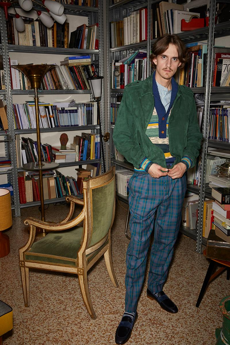 Missoni Man Spring Summer 2020 SS20 Collection Lookbook Serge Gainsbourg French Singer Songwriter Muse Inspiration Bohemianism Artistic Freedom