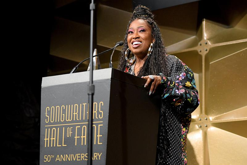 "Missy Elliott Songwriter Hall of Fame Female Rapper Third Hip-Hop Artist Jay Z Jermaine Dupri Lizzo Performance ""Sock It 2 Me"" Queen Latifah Induction"