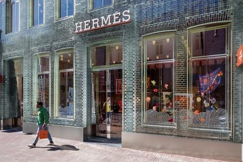 Hermès Moves Into MVRDV's Glass Brick Store in Amsterdam