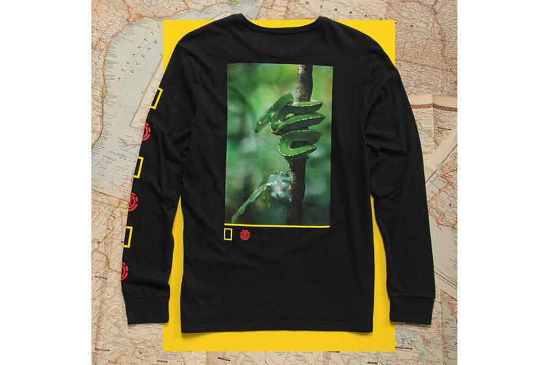 National Geographic Element Fall Winter 2019 Collection fall winter tee skateboard deck crew neck photography photographs elements earth wind fire water spirit animals