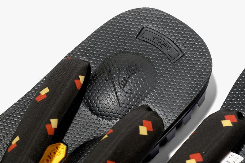 NEEDLES x Suicoke SS19 spring summer 2019 geta sandals collaboration release date june 7 2019 colorway
