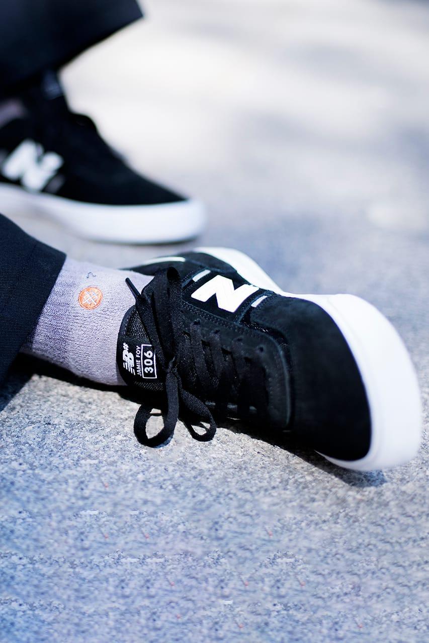 new balance numeric on feet
