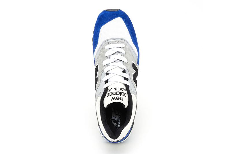 New Balance Made In USA M997OGA Blue Grey Suede Hand made reflective classic sneakers American