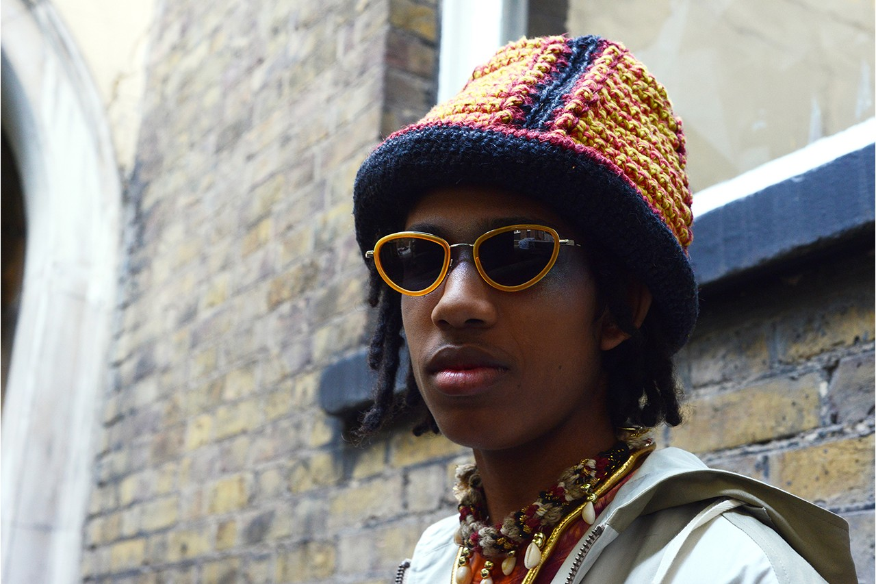 Nicholas Daley SS20 Spring/Summer 2020 Feature Interview LFW:M London Fashion Week Men's adidas MakerLab Fred Perry Tricker's George Cox Martine Rose Nigel Cabourn Puma Blue Flying Lotus Black Panther Pharaoh Saunders Beams Japan Riz Ahmed Sons of Kemet