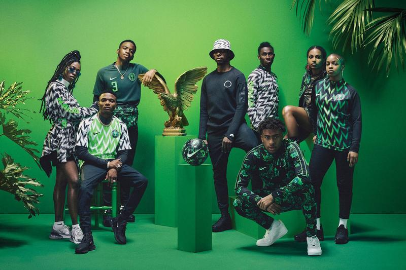 "Nigeria's Record-Breaking Football Kit Is Re-Releasing 2018 fifa world cup russia soccer nike tee t-shirts tracksuits shorts black white green zig zag pattern ""Naija"""