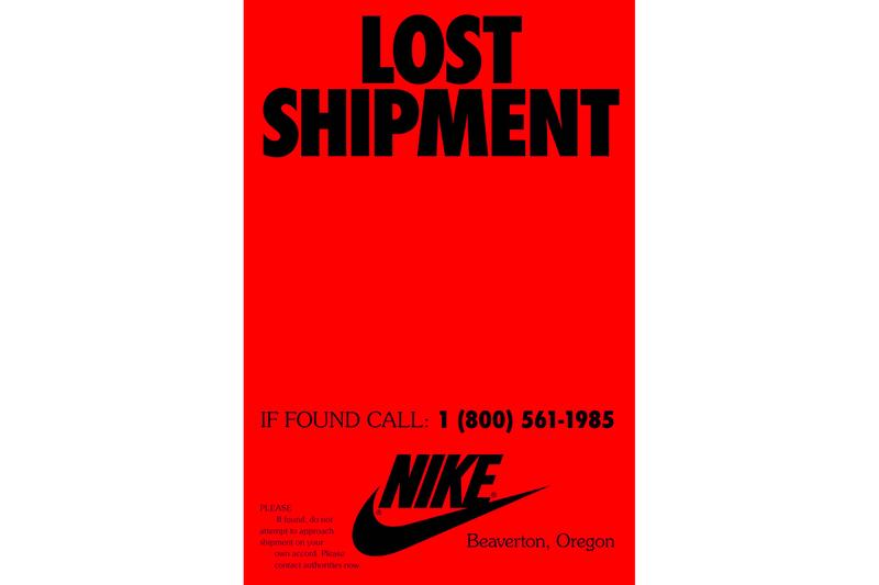 Nike 1985 Lost Shipment Campaign Phone Number 1 800 561 1985 Launch Release info Date truck video missing