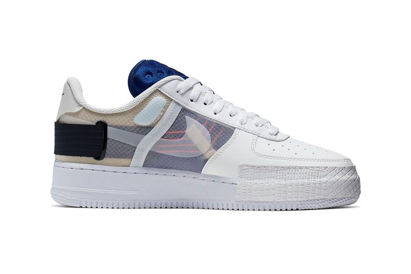 Nike AF1 TYPE Summit White Release Info ci0054 100 air force 1 low sneakers shoes n354 deconstructed protype n 354 series archivaes