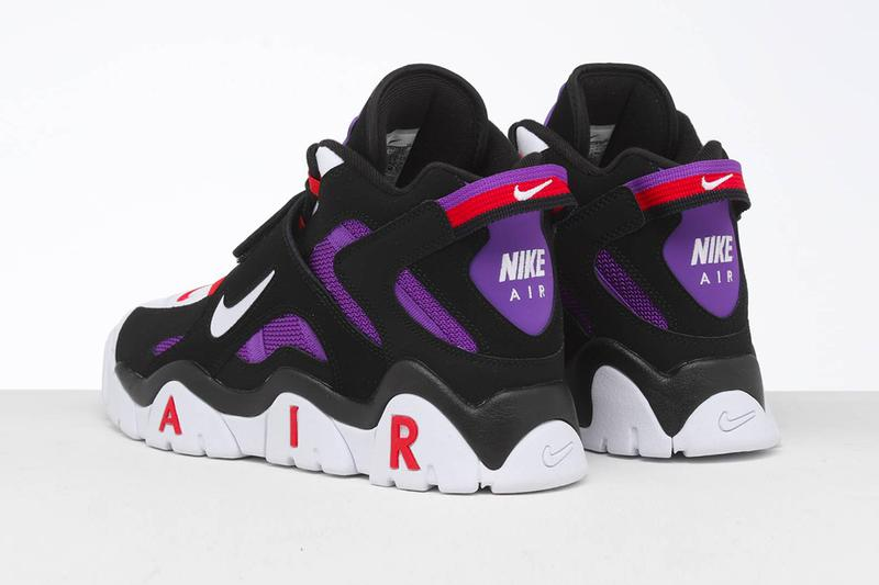 Nike Air Barrage Mid Raptors Colorway Release reissue retro vintage sneakers shoes toronto NBA basketball sports