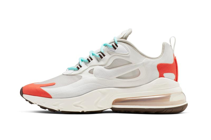 Nike Air Max 270 React Lookbook & Release Info swoosh react element 87 pastel react foam technology swoosh