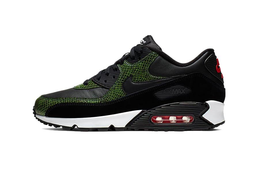 nike air max 90 green and black