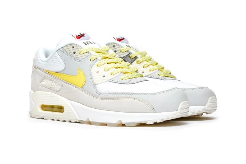 Nike Air Max 90 Mixtape Release Info shoes sneakers beaverton colorway vinyl retro 90s throwback nostalgia sneakersnstuff sns raffle