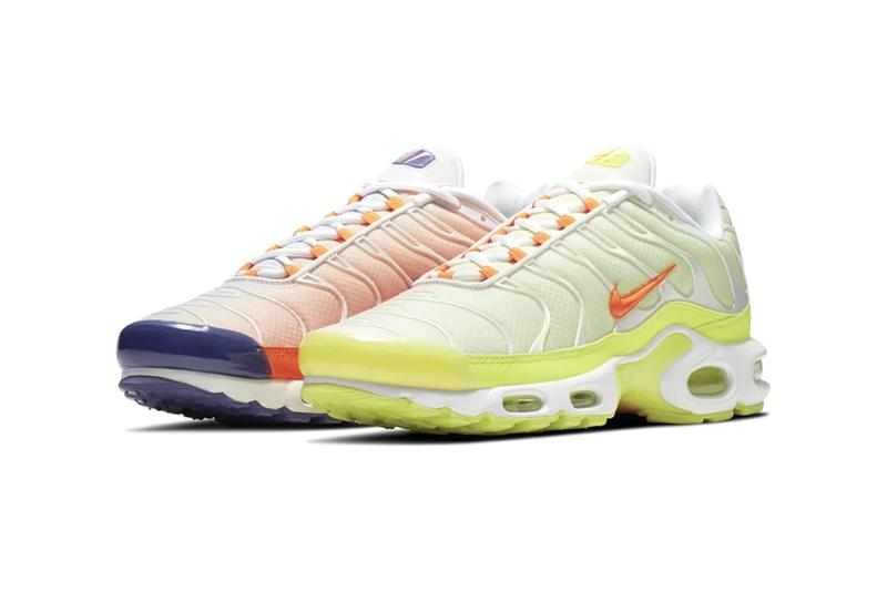 nike air max plus orange gradation