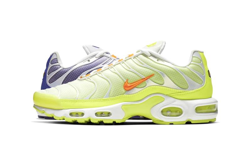 "Nike Air Max Plus Tn ""Color Flip"" Pack China Release Information Closer Look Toy Story Buzz Lightyear Colorway Green Orange Purple White Gradient Design"