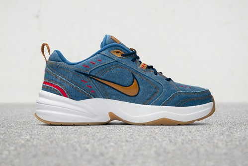 Nike Dresses the Air Monarch IV PRM in Full Denim for Father's Day