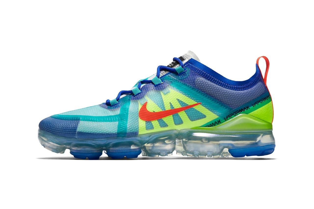 green and blue vapormax