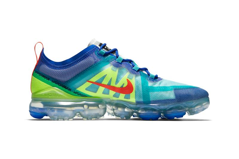 nike air vapormax se 2019 racer blue hyper jade volt glow green bright crimson colorway release white university gold wolf grey sneakers drop