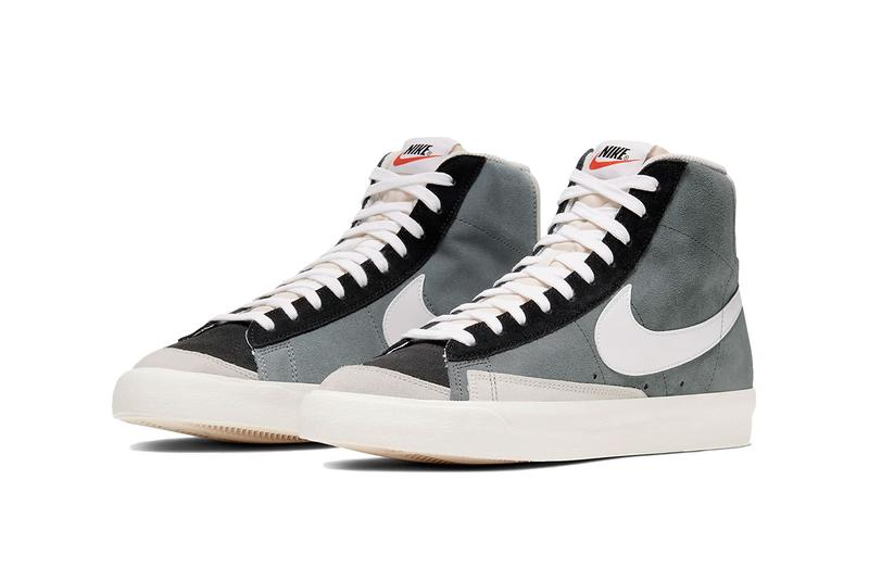 nike blazer mid vintage 77 colorway we suede release date info drop cold gray / peak white / light silver gray / black