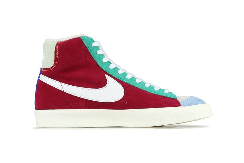 Nike Blazer Mid 77 Vintage Noble Red Kinectic Green Jade Aura