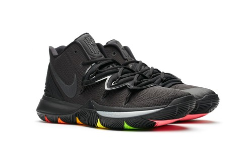 Nike Kyrie 5 Gets a Stealthy Black Revamp With Rainbow Accents