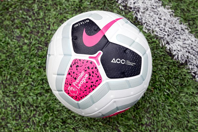 Nike Premier League Merlin Ball Football Sport Game Match 20th Anniversary Edition Modular Graphic Colorblocked Range Accuracy Aerowtrack Grooves Urban Grip All Conditions Control ACG