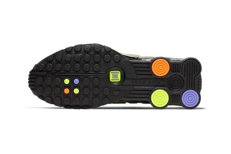 nike shox 4r black glow white flash colorway release dates china