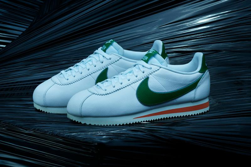 nike cortez blazer air tailwind 79 stranger things netflix apparel independence day hawkins high school 1985 closer look first look buy cop purchase release information green white orange blue red june 27 july 1