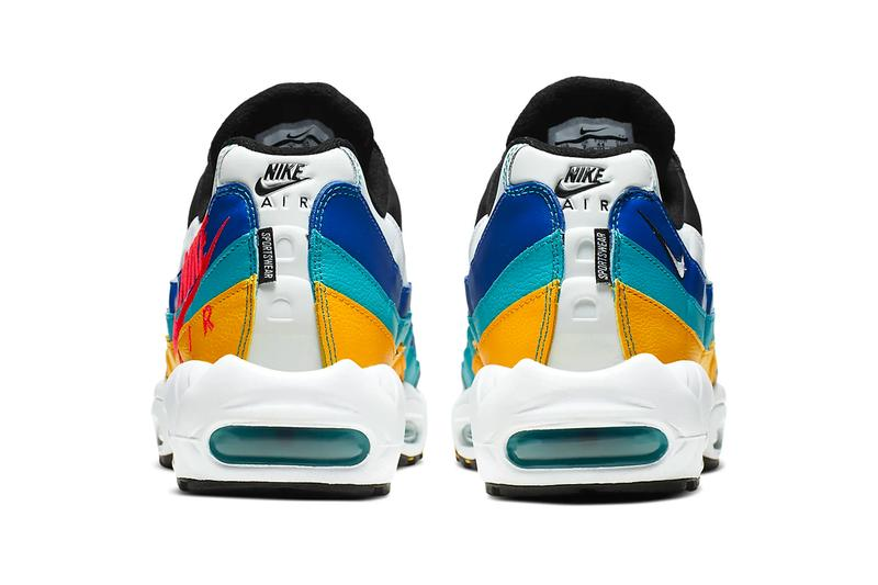Nike Windbreaker Inspired Air Max 95 Release throwback nostalgia sneaker show university gold teal nebula red orbit