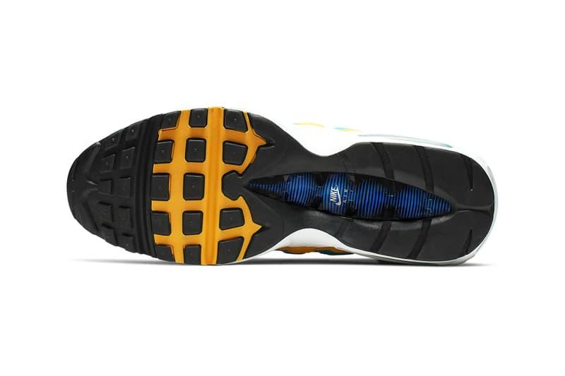 Nike Windbreaker Inspired Air Max 95 Release throwback nostalgia sneaker show university gold teal nebula red orbit