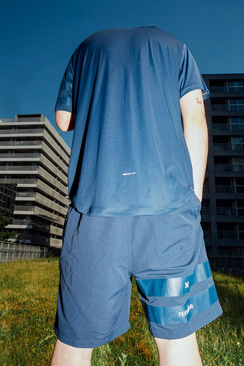 nonnative Hurley 23 Waves Collection Nike Dri Fit T Shirt Surfwear Shorts Bucket hat 6 panel cap beach city tokyo 23 wards ampibious