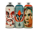Shepard Fairey Designs 3 Montana Spray Paint Cans With BEYOND THE STREETS