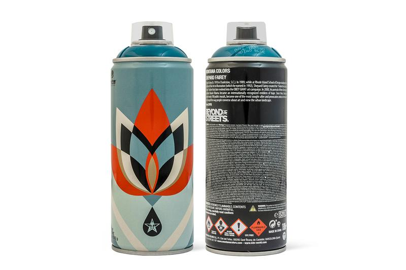 SHEPARD FAIREY DESIGNS 3 MONTANA SPRAY PAINT CANS WITH BEYOND THE