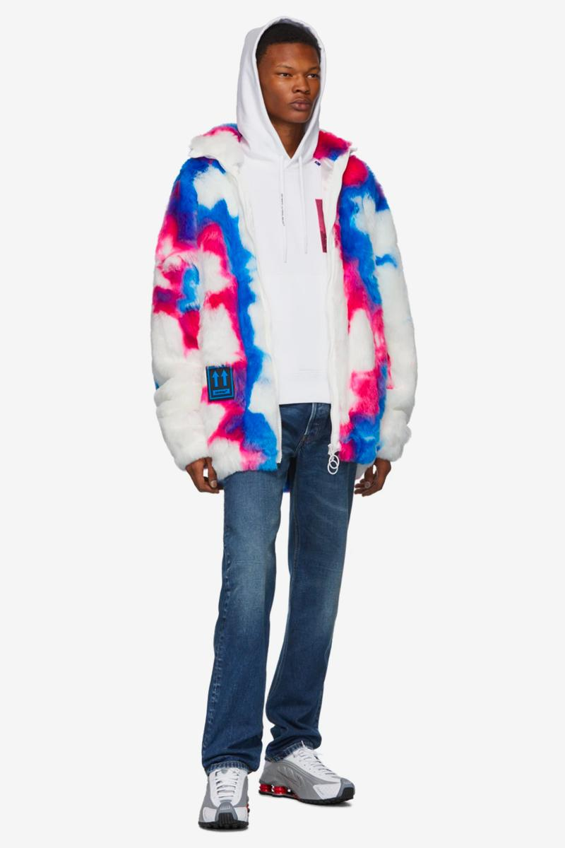 Off-White™ Faux-Fur Zip Anorak Coat Release Info Date Pink Blue White Virgil Abloh