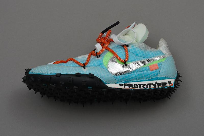 Off White Nike Prototypes Another Look Virgil Abloh MCA Chicago An Array of Air Figures of Speech Air Jordan 1 4 Nike Zoom Terra Kiger 5 Max 90 1 Air Vapormax  vapor street flyknit Waffle Racer