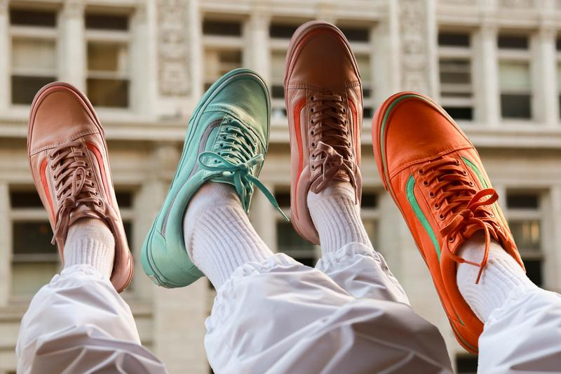 vans opening ceremony satin old skool sneaker pack release burnt orange emerald pale mauve burnt coral aqua sky silver