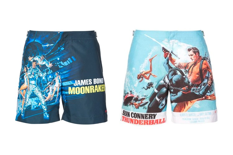 a129cc266f028 Orlebar Brown Releases Three Vintage 'James Bond'-Themed Swim Trunk Designs