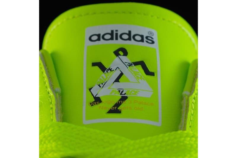 Palace adidas Originals Summer 2019 Sneaker Teaser Neon Yellow Green P Stick Figure man