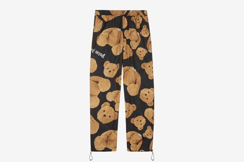 "Palm Angels ""Kill The Bear"" Black Cotton Shirt Shell sweatpants francesco ragazzi streetwear camp collar elastic cuffs teddy bear decapitated"