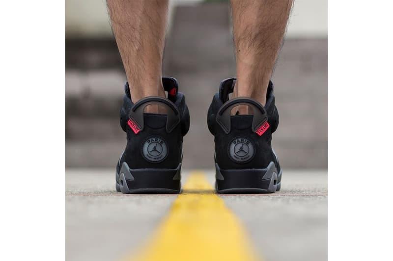 Paris Saint-Germain x Air Jordan 6 On-Foot Look collaborations jordan brand nike psg football soccer