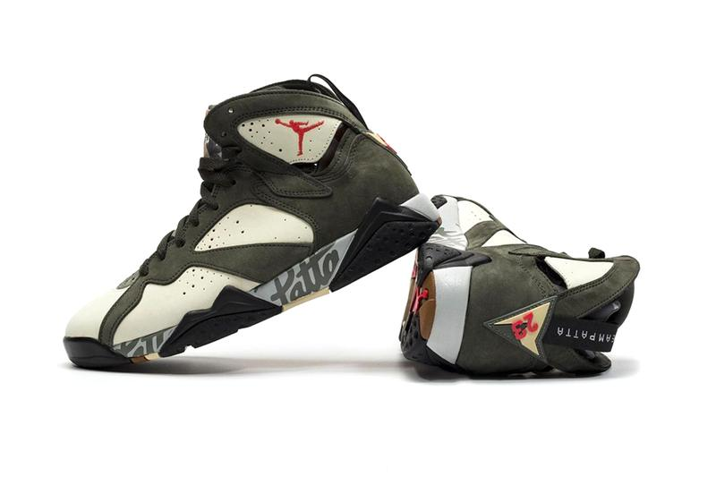 Patta Air Jordan 7 Icicle Jordan Brand Nike sneakers Amsterdam Netherlands team patta jumpman script logo midsole suede