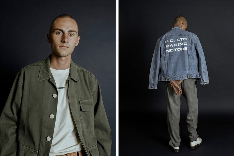 Period Correct Summer 2019 Collection Vintage Motosports Heritage Chore Coat Rally Team Olive Denim jacket Workwear Automotives