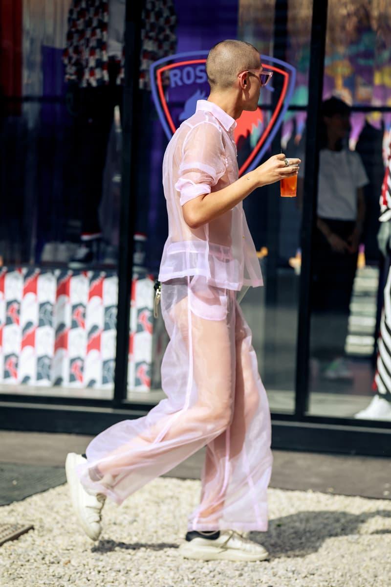 Pitti Uomo 96 spring/summer 2020 street style prada off white undercover takahiromiyashita the soloist florence london fashion week street snaps best off
